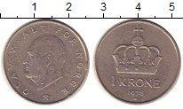 Изображение Дешевые монеты Норвегия 1 крона 1978 Медно-никель VF+