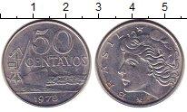 Изображение Дешевые монеты Бразилия 50 сентаво 1978 нержавеющая сталь XF