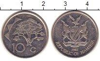 Изображение Барахолка Намибия 10 центов 1993 Медно-никель XF