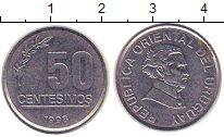 Изображение Барахолка Уругвай 50 сентесимо 1998 нержавеющая сталь XF