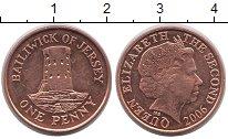 Изображение Барахолка Остров Джерси 1 пенни 2006 Латунь-сталь XF