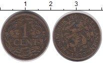 Изображение Барахолка Нидерланды 1 цент 1920 Латунь VF+