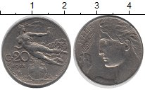 Изображение Барахолка Италия 20 сентесим 1913 Медно-никель XF-