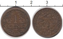 Изображение Барахолка Нидерланды 1 цент 1921 Медь VF-