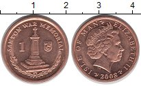 Изображение Барахолка Остров Мэн 1 пенс 2008 Латунь-сталь XF