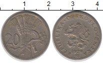 Изображение Барахолка Чехословакия 20 хеллеров 1929 Медно-никель XF-