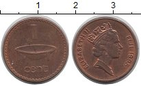 Изображение Барахолка Фиджи 1 цент 1995 Медь XF