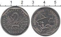 Изображение Барахолка Франция 2 франка 1993 Медно-никель XF-