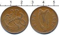 Изображение Дешевые монеты Ирландия 2 пенса 1980 Медь XF