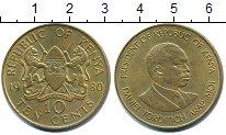 Изображение Барахолка Кения 10 центов 1980 Латунь XF