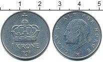 Изображение Дешевые монеты Норвегия 1 крона 1978 Медно-никель XF