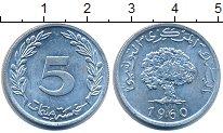 Изображение Дешевые монеты Тунис 5 сантим 1960 Алюминий XF