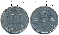 Изображение Дешевые монеты Южная Корея 100 вон 1990 Медно-никель XF-