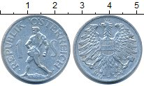 Изображение Дешевые монеты Австрия 1 сентесимо 1947 Алюминий XF