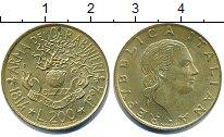 Изображение Дешевые монеты Италия 200 лир 1994 Латунь XF+