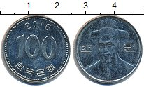 Изображение Дешевые монеты Южная Корея 100 вон 2015 Медно-никель VF