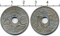 Изображение Барахолка Франция 25 сентим 1928 Медно-никель XF-