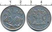 Изображение Дешевые монеты ЮАР 20 центов 1989 Медно-никель VF+