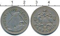 Изображение Барахолка Барбадос 25 центов 1973 Медно-никель XF-