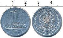 Изображение Дешевые монеты Бразилия 1 крузейро 1960 Алюминий XF