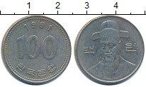 Изображение Дешевые монеты Южная Корея 100 вон 1991 Медно-никель XF-
