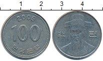 Изображение Дешевые монеты Южная Корея 100 вон 2005 Медно-никель VF+