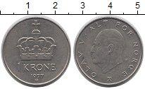 Изображение Дешевые монеты Норвегия 1 крона 1977 Медно-никель XF-