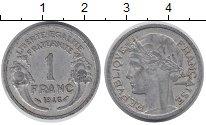Изображение Барахолка Франция 1 франк 1946 Алюминий VF