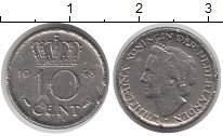 Изображение Барахолка Нидерланды 10 центов 1948 Медно-никель VG