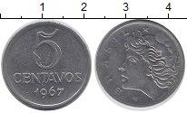 Изображение Дешевые монеты Бразилия 5 сентаво 1967 Сталь XF-