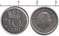 Изображение Дешевые монеты Нидерланды 10 центов 1979 Медно-никель VF