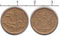 Изображение Дешевые монеты ЮАР 10 центов 1993 Бронза VF