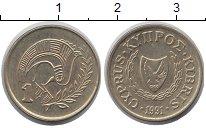 Изображение Дешевые монеты Кипр 1 цент 1991 Латунь XF