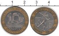 Изображение Дешевые монеты Франция 10 франков 1991 Биметалл VF