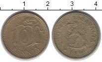 Изображение Дешевые монеты Финляндия 10 пенни 1974 Бронза VF