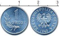 Изображение Барахолка Польша 1 грош 1949 Медно-никель XF