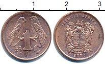 Изображение Дешевые монеты ЮАР 1 цент 2000 Латунь-сталь XF
