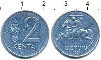 Изображение Дешевые монеты Литва 2 цента 1991 Алюминий XF-