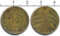 Изображение Барахолка Германия 10 пфеннигов 1925 Латунь VF