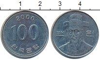 Изображение Дешевые монеты Южная Корея 100 вон 2000 Медно-никель XF