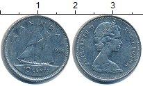 Изображение Дешевые монеты Канада 10 центов 1974 Медно-никель XF-