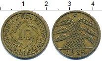 Изображение Барахолка Германия 10 пфеннигов 1928 Латунь XF-