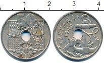 Изображение Дешевые монеты Испания 50 сентим 1949 Медно-никель XF-