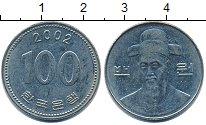 Изображение Барахолка Южная Корея 100 вон 2002 Медно-никель XF