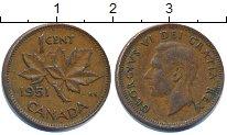 Изображение Дешевые монеты Канада 1 цент 1951 Медь VF