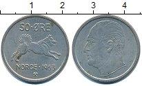 Изображение Барахолка Норвегия 50 эре 1963 Медно-никель XF-