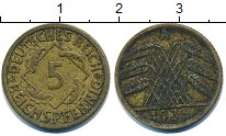 Изображение Барахолка Германия 5 пфеннигов 1935 Латунь VF