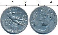 Изображение Дешевые монеты Италия 20 чентезимо 1911 Медно-никель XF-