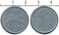 Изображение Барахолка Норвегия 50 эре 1967 Медно-никель XF-