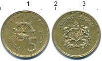 Изображение Дешевые монеты Марокко 5 сентим 1974 Латунь XF